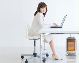 Space heaters in office