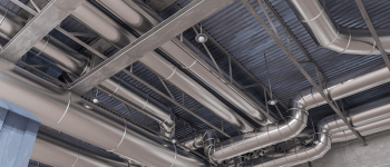 clean air ducts on building ceiling