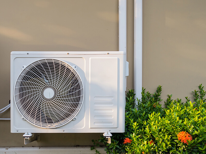 heat pump or air conditioner feature